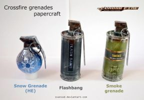 Crossfire Grenades Papercraft + DOWNLOAD added by svanced