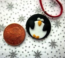 Penguin Necklace by JewelleryByABC