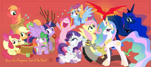 2014: Year of the Prosperous Pony - Redux by dm29