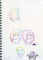 rainbow dash and friend sketches by killerSODAcan