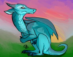 Blue Dragon by zylaphonefish