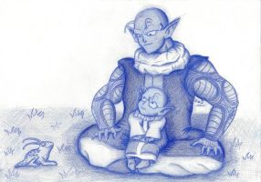 Nail and Dende by suzie-chan