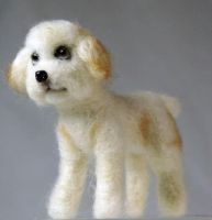 Needle felted small Dog by The-GoblinQueen