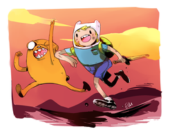 ADVENTURE TIME!! by Natural-Gas