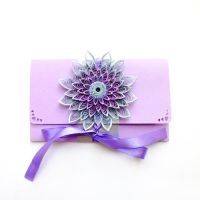 quilling envelope Violet by othewhitewizard