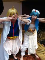 Alibaba and Aladdin crazy face - Magi by Die-Rose