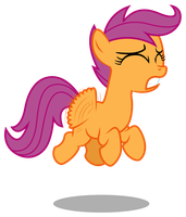 Request - Scootaloo Trying to Fly by bobsicle0