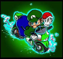 1up-Colored Sport Bike is his only. by mfs-Tatsumin