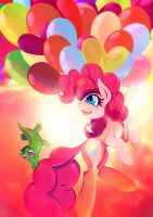 Pinkie Pie - Balloonparty by Rariedash