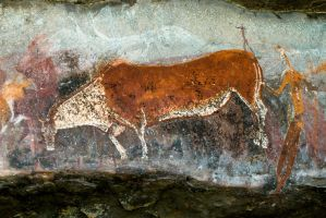 San Bushmen Rock Art by Anthroviking