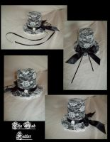 Mini Lace Top Hat by mad-hatter-inc