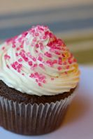 chocolate cupcake with buttercream icing by bakedfish