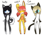 (Anthro or Sonic)Adoptables #1-.:CLOSED:. by Chocoecaramell