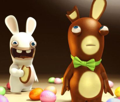 A Raving Rabbids Easter by superfoxdeer