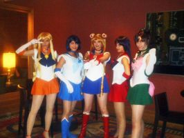 Fanime'11: Sailor Scouts by theEmperorofShadows
