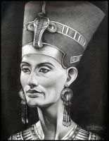 Queen Nefertiti by Skaughtt