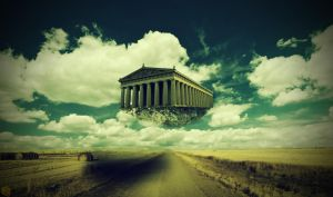 Flying Parthenon by JapeKing