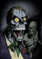 Zombie Joker And Two Face by MarcoSchnitzler