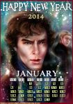 Sherlock_January_calendar2014 by manulys