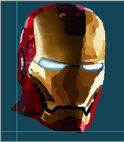 Iron Man painting progress by SpaceDelusion