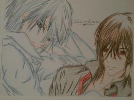 Zero and Kaname by RheaofWar