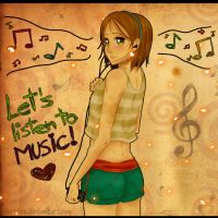 : Lets listen to music : by Florchus