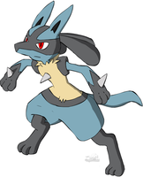 Running Lucario by Dragon-Minded
