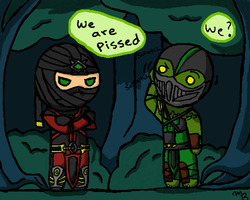 Chibi Ermac and Reptile by zetsumeininja