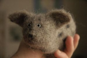 needle felted animal by vriad-lee