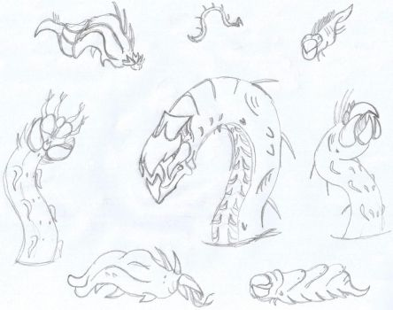 The SandWorm Family! (Sketch) by 0-DarknesShade-0