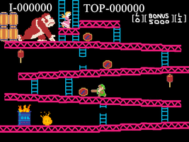 Link takes on Donkey Kong by DarkwingFan