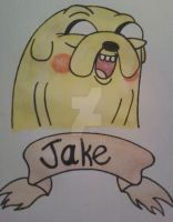 Jake The Dog Watercolor by TMNT1984