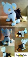 Female Shinx plushie by Neon-Juma