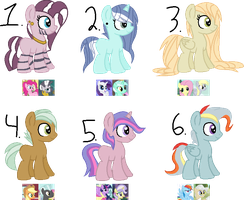 CLOSED - Mane 6 Crack Shipping Adopts by Br0kenP0nies