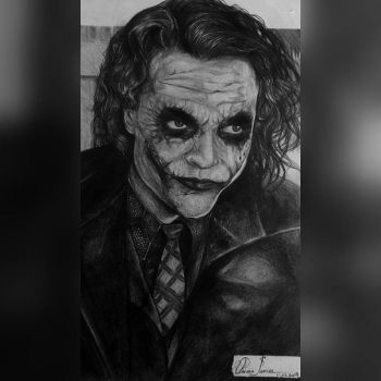 The Joker (Heath Ledger) by Oscarliima