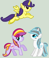 My Little Ponies by LittleCloudie