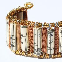 Guitar String Brass Music Cuff by Tanith-Rohe