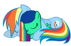 Mommy Rainbow Dash and Raindrops by bettybop920