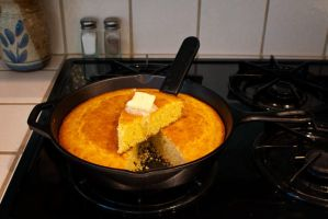 corn bread by tea