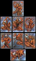 Carnage Sketch Card by AHochrein2010