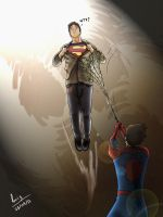 Spidey vs Superboy 3 by 0Dark-Knight0