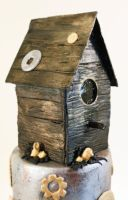 SteamPUNK Birdhouse Cake 2 by ohnoono