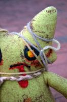 ZomKitteh the Zombie Plush Close Up by livetoletlive