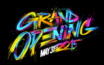 Grand Opening custom lettering by CHIN2OFF