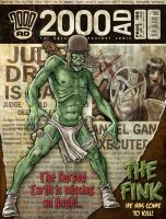 2000AD cover recreation by KevLev