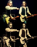 Johnny Depp playing the guitar by nylfn