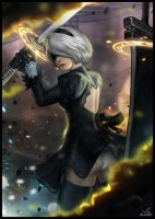 2B NieR : Automata Fan Art by Freppechoco