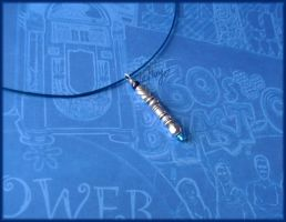 Blue Sonic dr Who neckwire by Marjolijn-Ashara