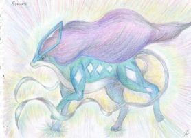 Suicune - North Wind pokemon by Werebudgie