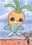 Octonauts- Tunip sketch card by invaderjes